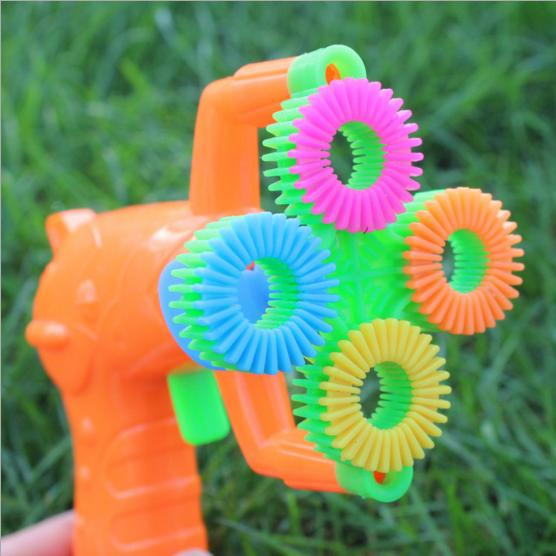 12*9cm Electric Soap Bubble Gun #5 battery power Automatic Bubble Water blowing machine kids holiday water gun toy d22
