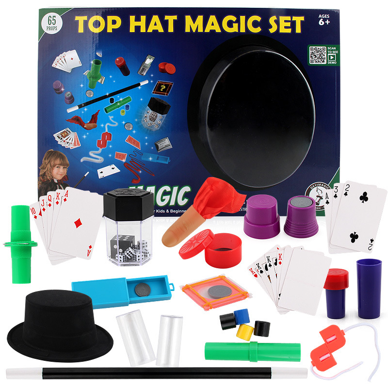 Chidlren Magic Tricks Toys Junior Magic Set Simple Magic Props For Magic Beginner Children With Teaching Kit