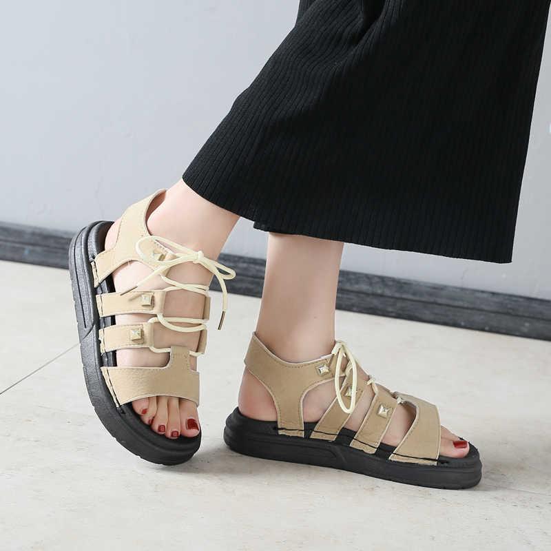 Fires Fashion Women Sandals Summer Gladiator Shoes Ladies Shoes Woman Comfort Beach Shoes Flat Sandals  Platform Sandals