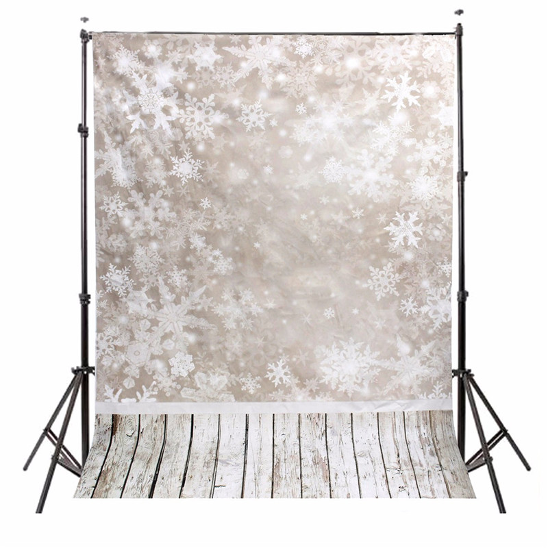 где купить 5x7ft Vinyl Photography Background Snow Scenery Christmas photographic Backdrop for Studio Photo Prop cloth 1.5x2.1m waterproof по лучшей цене