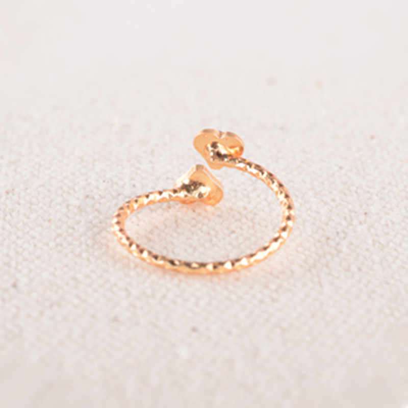 Hot!Fashion Female Heart Crystal Ring Flower Adjustable Ring Vintage Wedding Rings For Women Gifts Wholesale