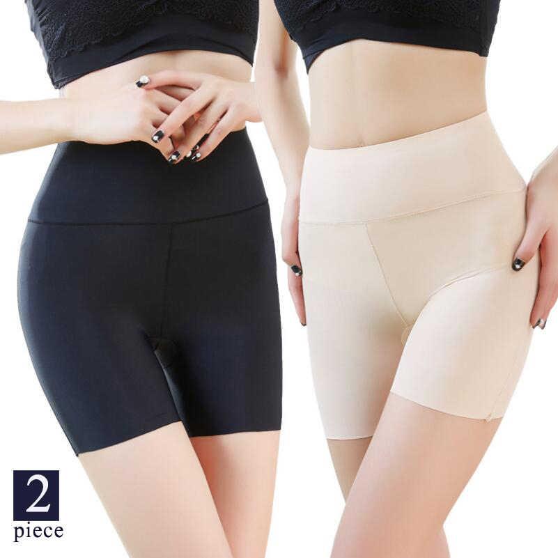 Kobiety szorty ochronne spodnie miękkie bezszwowe kalesony wysokiej talii majtki dziewczyny oddychające rajstopy damskie letnie spod spódnicy spodenki