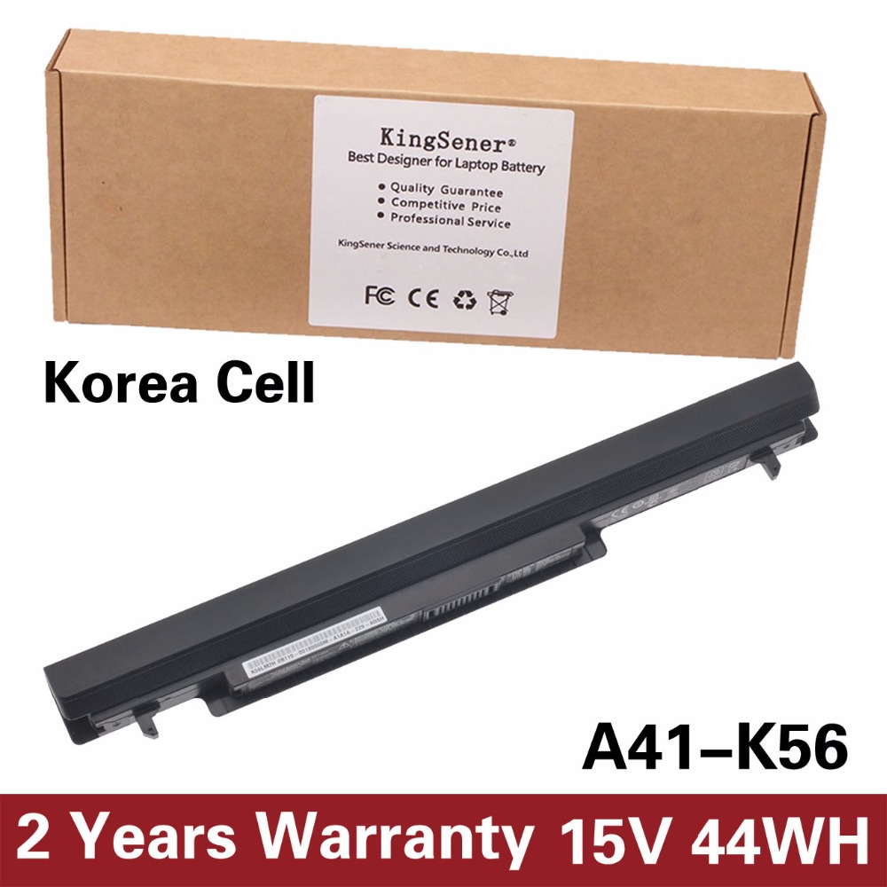 Korea Cell KingSener New A41 K56 Battery for ASUS K46 K46C K46CA K46CM K56 K56CA K56CM