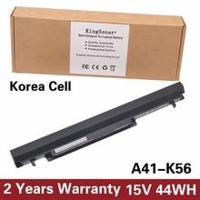 Coreia do Celular KingSener Nova Bateria A41-K56 para ASUS K46 K46C K46CA K46CM K56 K56CA K56CM S46C S56C A32-K56 A42-K56 15 V 2950 mAh
