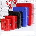 Mini Portátil Cofre de Segurança Caixa de Dinheiro Caixa de Coleta Para O Escritório Da Escola Para Casa de Armazenamento De Jóias Com Bandeja Compartimento Com Fecho XS