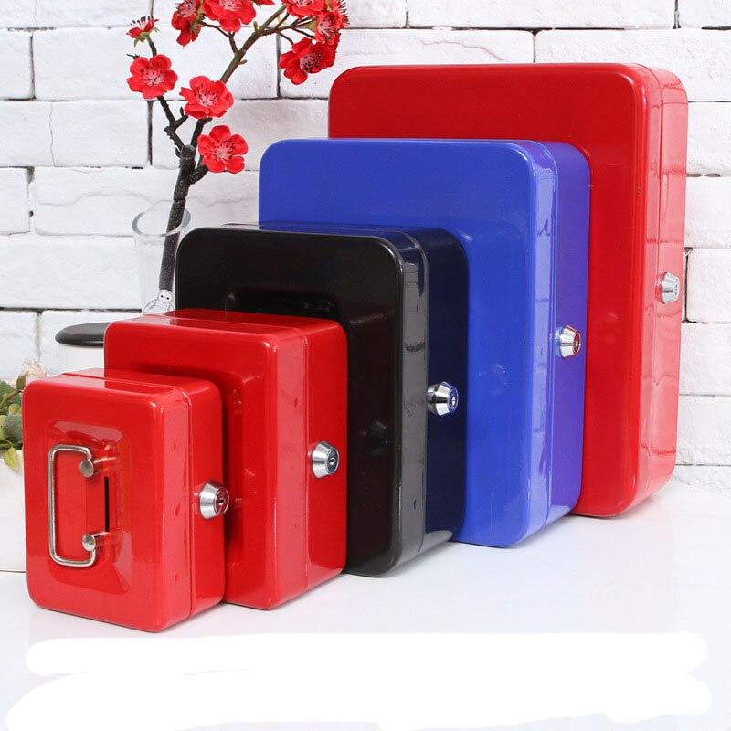 Mini Portable de Sécurité Coffre-fort D'argent Bijoux De Stockage Boîte de Collecte Pour Office Home School Avec Compartiment Plateau Verrouillable XS