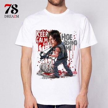 Мода 2017 летняя футболка The Walking Dead no hope Мужская футболка rise up футболки мужские negan the walk dead >> 78DREAZM Design Store