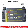 2016 Free Shipping New Arrival 2XLot Compact DMX LED Stage Lights Controller DMX Recorder Easy control For Stage Disco Lighting