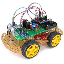 OPEN-SMART 4WD Bluetooth Controlled Smart Robot Car Kit with Installation Tutorial & Demo Code for Arduino