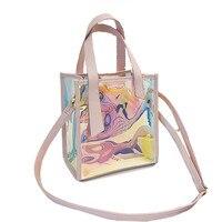New Summer Female Composite Outdoor Sport Luxury Messenger Beach Bag Transparent Women Swimming Bath Bag On The Beach