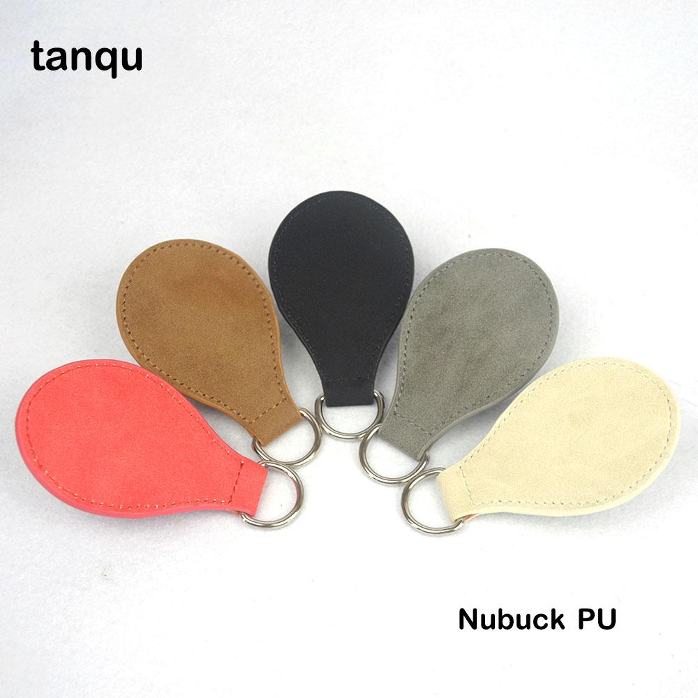 tanqu 2 Pair 4 PCs Frosted Matt Faux Suede Nubuak Leather Drop End for Obag Handle Drop Attachment for O Bag Obasket DIY Bag цена 2017