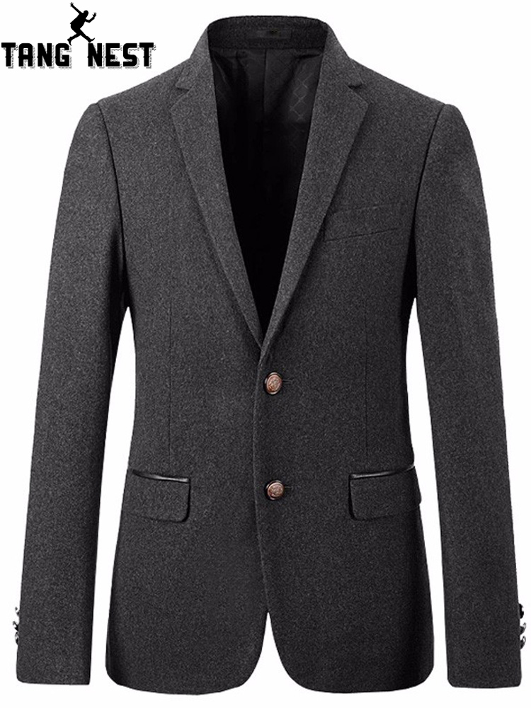 TANGNEST Casual Single Breasted Men Blazer 2019 New Arrival Business Men Blazer Good Quality Fashion Blazer Masculino MWX378