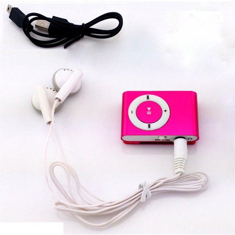 30 pièces coloré lecteur Mp3 Mini Mp3 lecteur de musique Micro TF carte Slot USB MP3 Sport lecteur USB Port avec écouteur casque
