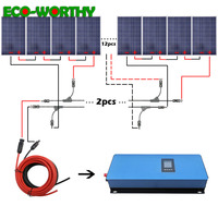 ECOworthy 2000W Solar System Kit: 20*100W Solar power Panel 2000W Grid Tie Pure Sine Inverter Solar Energy System For Home
