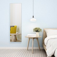 Giantex Wall & Door Mounted Mirrored Jewelry Cabinet Storage Organizer W/ Lights&Drawer Home Furniture HW59104