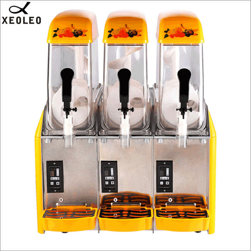 XEOLEO Ice Slusher 3 Tanks Slush Machine 12L*3 Smoothies Granita Machine 890W Snow Melting Machine Slushing Maker Ice Cream