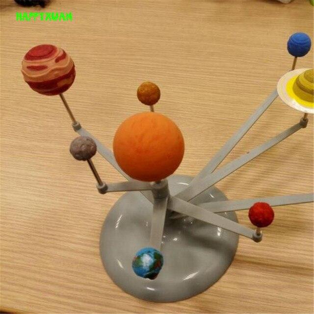 HAPPYXUAN Астрономический Инструмент Световой Шар Diy Ассамблеи Наука Экспериментальная Девяти Планет Солнечной Системы Модель Игрушки