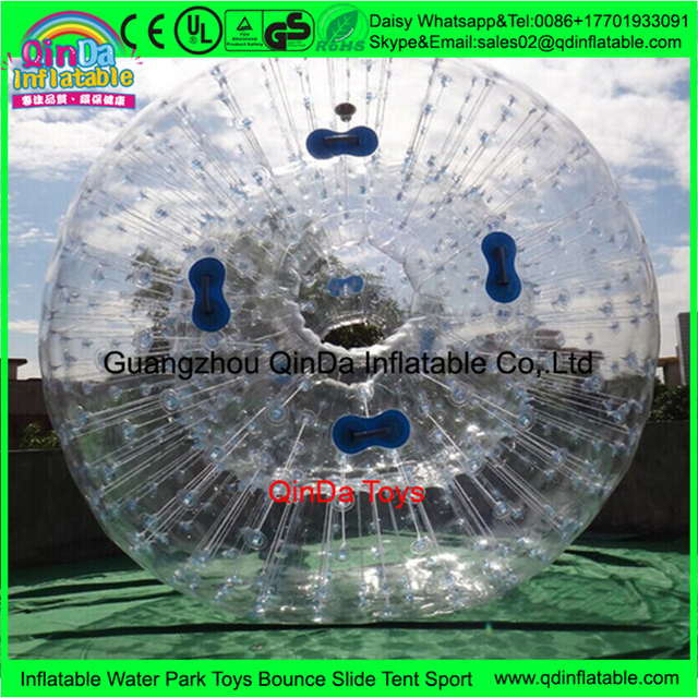 Made in china inflatable human balloon person inside,human hamster ball , grass rolling zorbing ball ,body zorb ball