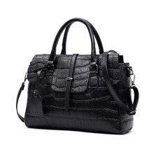 Neue Krokodilleder frauen Handtaschen Schulter Taschen für Mädchen Schwarz Tasche Damen Sac Femme Bolsas Femininas