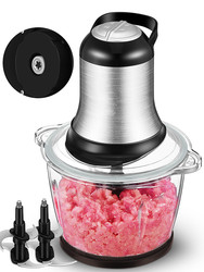 Meat Grinders home electric stainless steel multipurpose mixer minced vegetables garlic puree small
