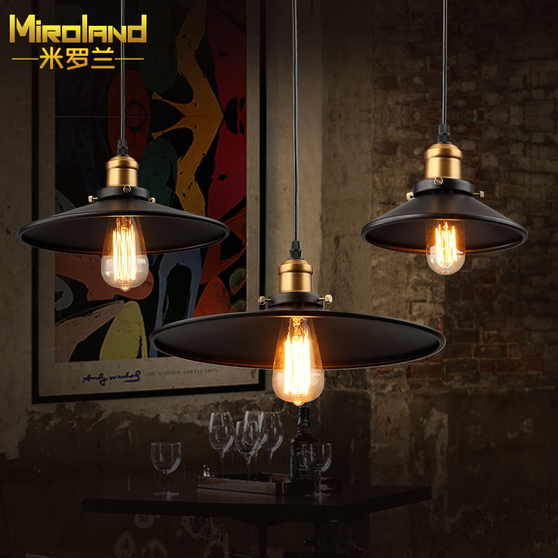 Vintage  Pendant Light Industrial Edison Lamp Black Wrought Iron Lampshade  Loft Coffee Bar Restaurant Kitchen Lights 28CM vintage edison chandelier rusty lampshade american industrial retro iron pendant lights cafe bar clothing store ceiling lamp