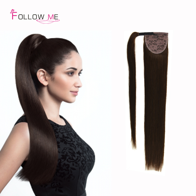 Follow Me Human Hair Ponytail Remy Human Hair Drawstring Ponytail