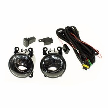 For DACIA LOGAN Saloon LS_   H11 Wiring Harness Sockets Wire Connector Switch + 2 Fog Lights DRL Front Bumper Halogen Car Lamp