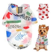 Chubasquero para perro, ropa a prueba de sol, Sudadera con capucha de protección solar para perro pequeño, Poncho estampado para mascotas pequeñas, medianas y pequeñas