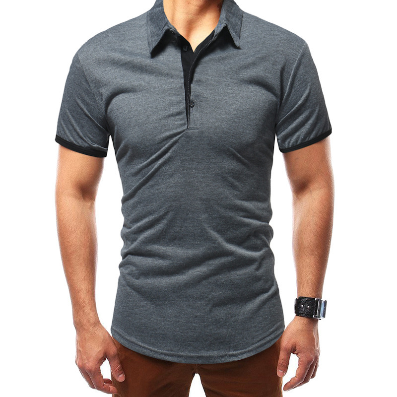 Mens Clothing T Shirts Fashion Solid Color Simple Short Sleeve T Shirt Male Tops 3colour