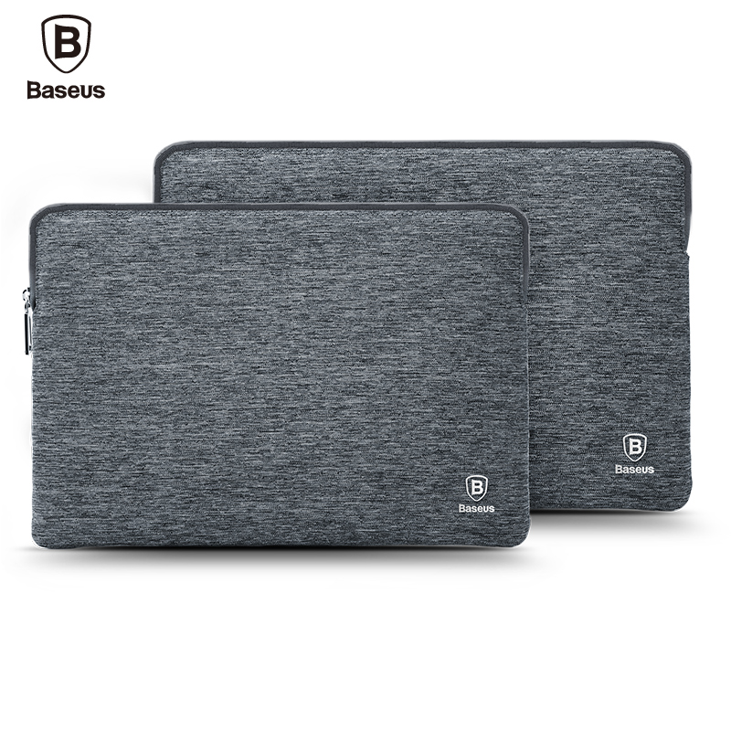 Baseus New Laptop Bag Sleeve Pouch For Macbook Pro 13 15 Inch 2016 A1706 A1707 A1708 Waterproof Soft Sleeve Bag Case for apple macbook pro 13 15 2017 a1706 a1707 a1708 with touch bar laptop sleeve bag case zipper liner sleeve bag for macbook air