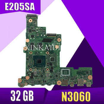 XinKaidi  E205SA Laptop motherboard N3060 CPU 2GB RAM 32 GB for ASUS tp200sA  E205S E205SA Test mainboard E205SA motherboard