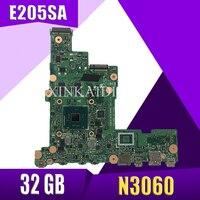 XinKaidi E205SA Laptop motherboard N3060 CPU 2GB RAM 32 GB for ASUS E205S E205SA Test mainboard E205SA motherboard test 100% ok
