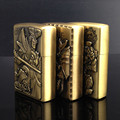 Metal kerosene lighter, hero alliance bronze figure embossment pattern. Creative lighters, cigarette lighter