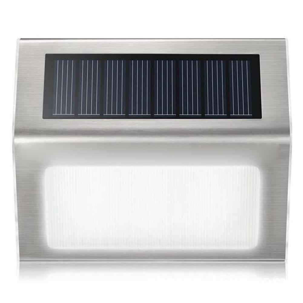 Солнечный садовый светильник из нержавеющей стали 3 светодиодный на солнечных батареях лампа наружная Водонепроницаемая энергосберегающая дорожка для двора лестница настенный светильник