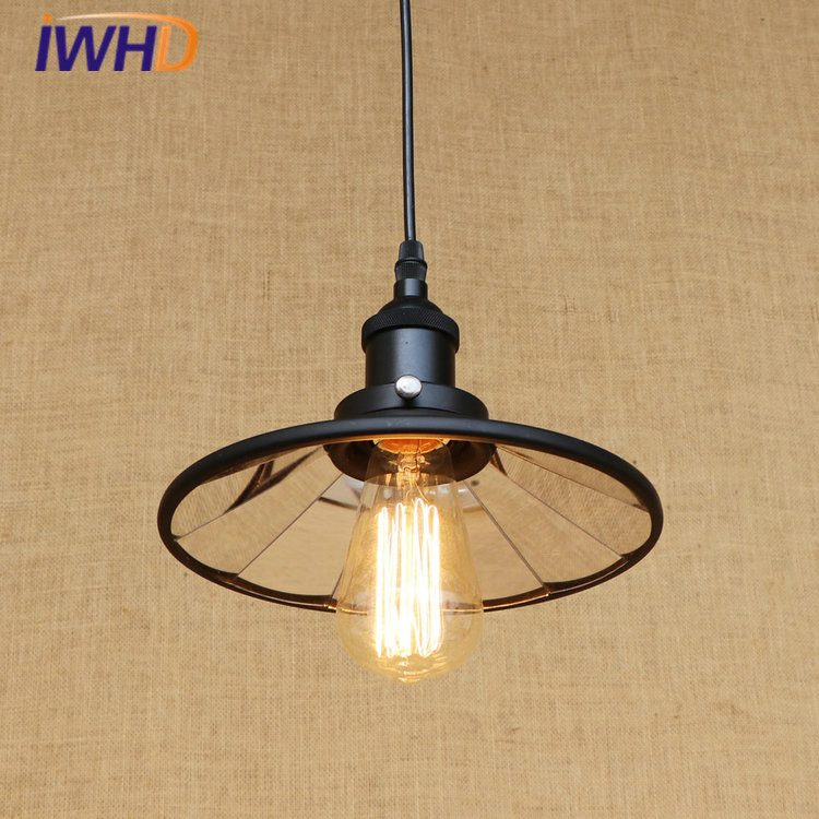 Loft Vintage Industrial LED Pendant Lamp Lustre Lens Pendant Lights Fixtures For Home Lightings Hanging Lamp Lamparas Colgantes america country led pendant light fixtures in style loft industrial lamp for bar balcony handlampen lamparas colgantes