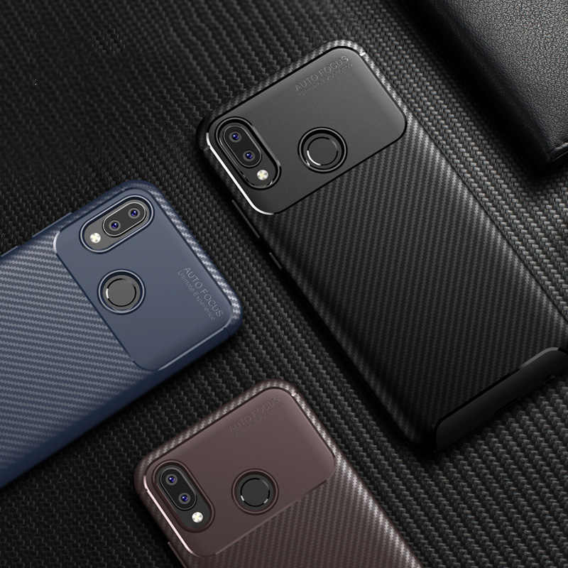 Luxury Carbon Fiber Phone Case on for Huawei P10 P20 Lite Nova 3 3i Y5 Y6 2018 Mate 20 Lite Honor 8X max 7A Silicone TPU Cover