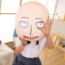 1pc 25cm Anime One Punch Man pillow Saitama ONE PUNCH-MAN Bald Superman Stuffed Toys Free shpping