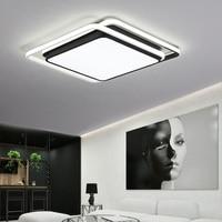 Chandelier Lighting for living room bedroom Lustre Rectangle Chandelier AC85 265V lamparas de techo Chandelier Plafon Led Paras