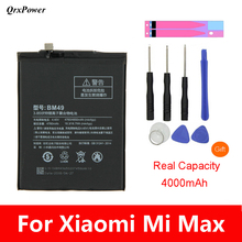 Original BM49 Mobile Phone Battery For Xiaomi Mi Max Real Capacity 4850mAh Replacement Li-ion Battery with tools stickers все цены