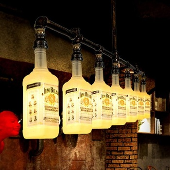 Winebottle винтажные промышленные подвесные лампы, подвесные светильники, светодиодные лампы для дома, скандинавские подвесные светильники, по...