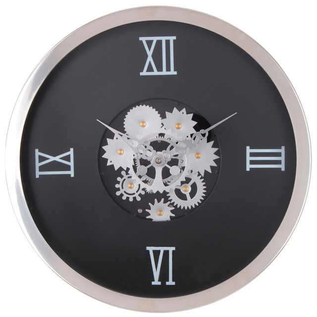 simple wall clock 12 inch glass creative customizable clock face