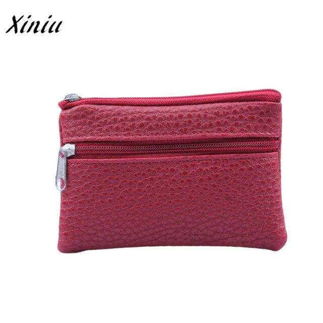 Xiniu (Корабль из RU) для женщин Для мужчин портмоне кожаный бумажник Multi функциональная молния LeatherCard кошелек accesorios para monederos 4