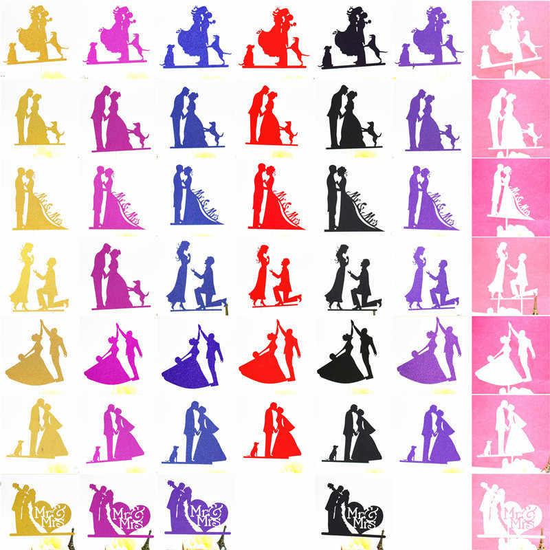 كعكة الزفاف توبر الفضة حزب إمدادات العروس و العريس كعكة توبر ديكورات الاعراس لحفلات الزفاف Mr Mrs الزفاف كعكة توبر