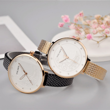 Ladies Moon Pattern Women Watch belt Leather Fine Strap Ultra-thin Clock Quartz Diamond Casual Female Wristwatch Montre Femme