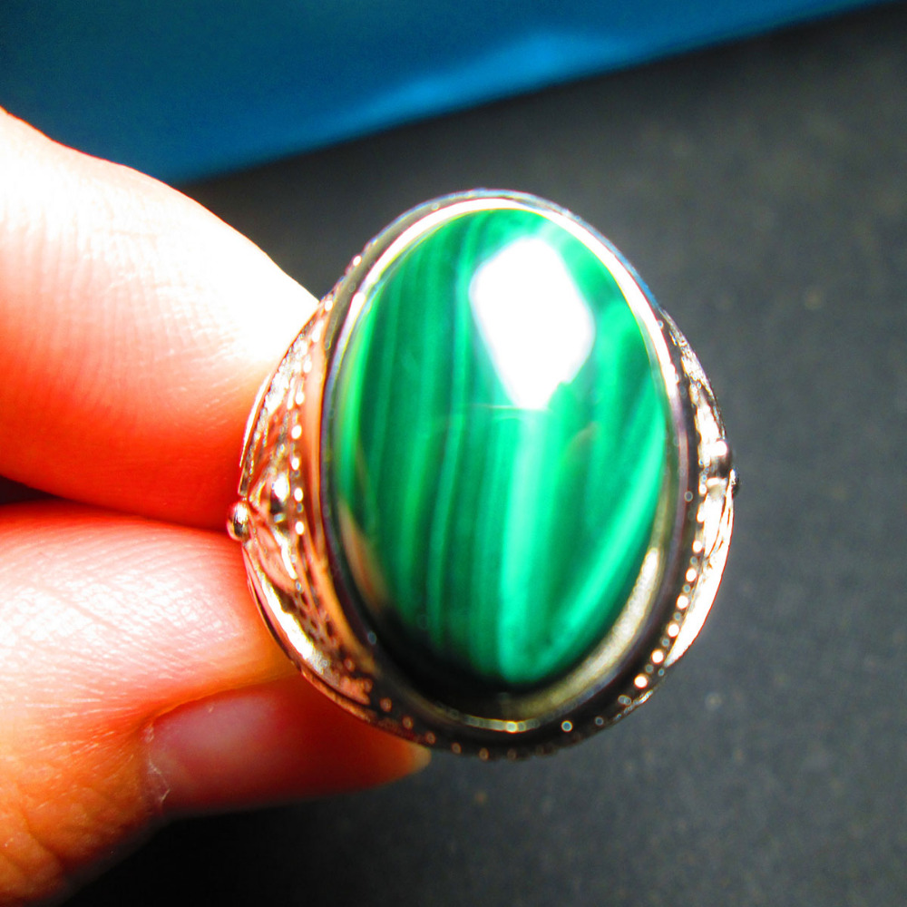 On Sale Promotion Cocktail Rings Natural Blue Malachite ...