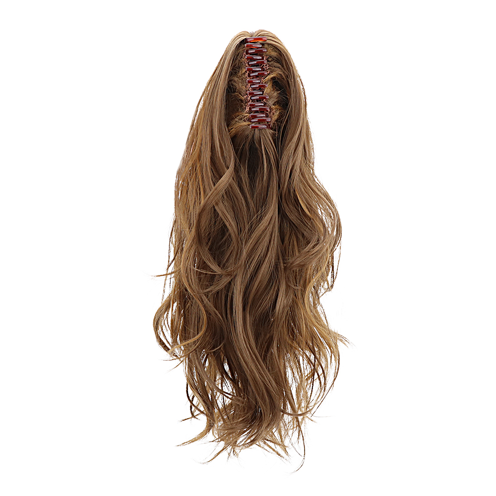 """Image 5 - 18""""Synthetic drawstring ponytail Claw Clip In Hair Extensions Hairpiece Natural Curly Clip In Human Hair Extensions Ponytail Wig-in Synthetic Ponytails from Hair Extensions & Wigs"""
