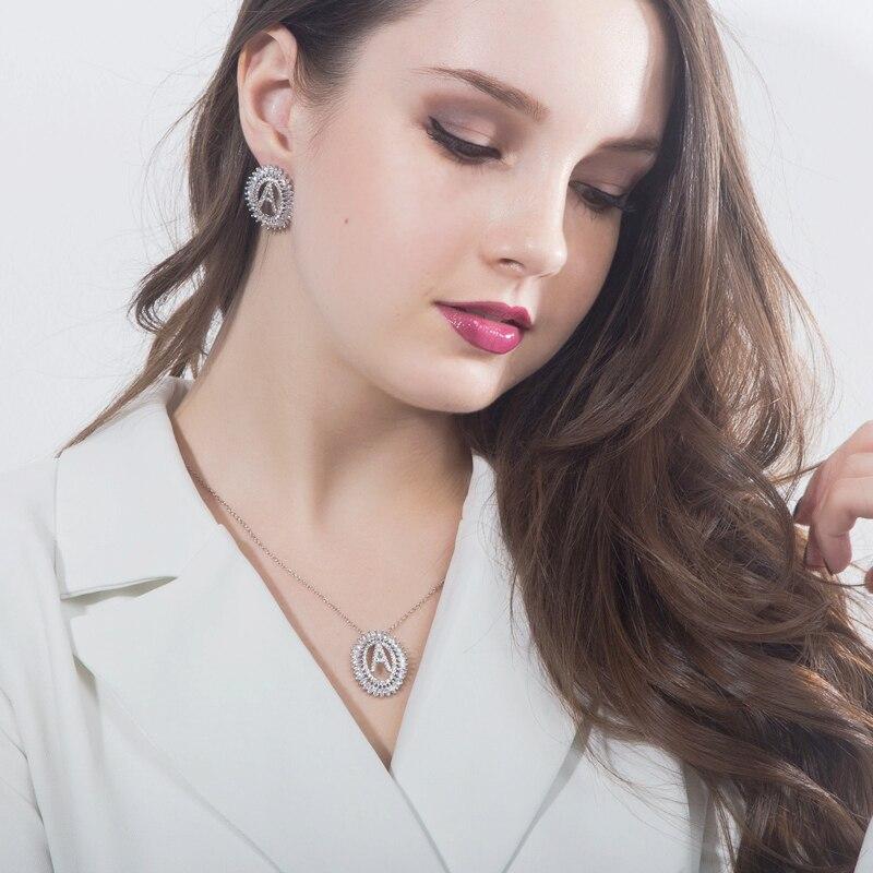 Letter Earrings Jewelry Set16