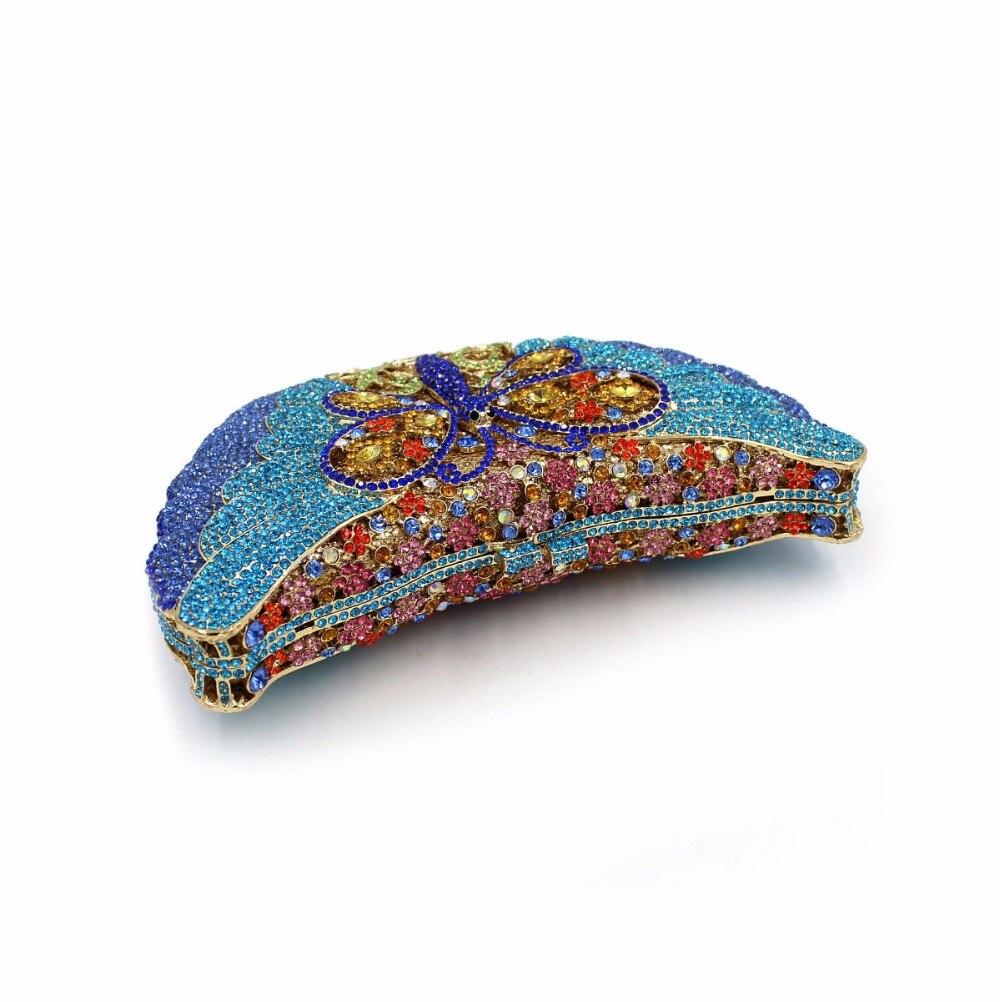 De Dîner Coloré Soirée Main Bourse Parti Mariage Gemme Pierre red Embrayage Blue Cristal Diamante Luxe Bl058 À Femmes En gold Sacs SwqvBddn