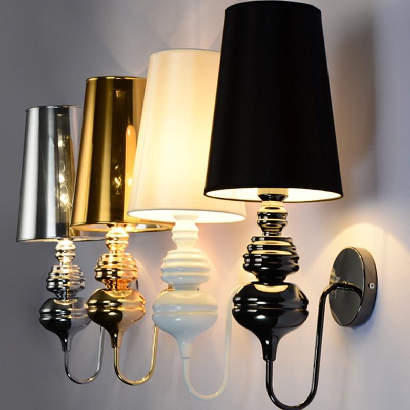 Bedroom Lamps Black: Modern Nordic Hotel Wall Lights For Bedroom Bedside Lamp