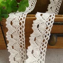 5/10/20/30/40/50 Yards 2.5cm/4cm Width Cotton Lace Trimming For Sewing White Beige DIY Handmade Craft Ribbon Decoration